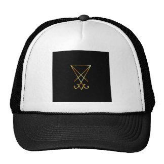Sigil of Lucifer- A symbol of satanism Mesh Hat