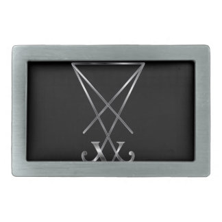 Sigil of Lucifer- A symbol of satanism Rectangular Belt Buckle