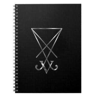 Sigil of Lucifer- A symbol of satanism Spiral Note Book