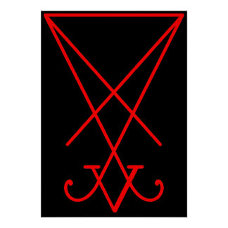 Sigil of Lucifer Poster