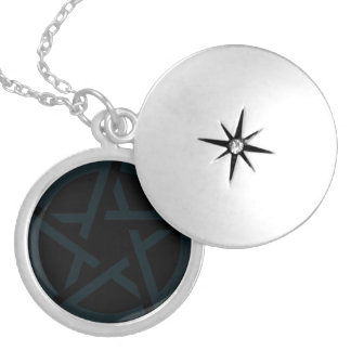 Sigil Round Locket Necklace