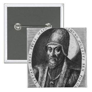 Sigismund Augustus, King of Poland 15 Cm Square Badge