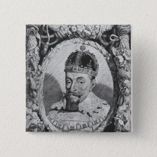 Sigismund Vasa, King of Poland and Sweden 15 Cm Square Badge