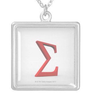 Sigma 2 silver plated necklace