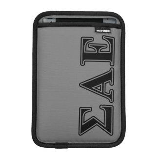 Sigma Alpha Epsilon Black Letters iPad Mini Sleeve