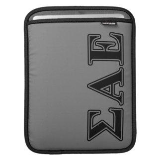 Sigma Alpha Epsilon Black Letters iPad Sleeve