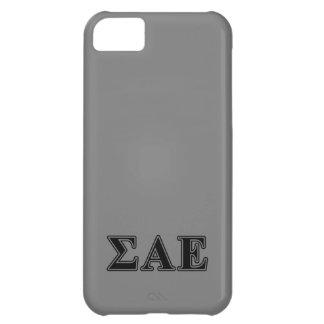 Sigma Alpha Epsilon Black Letters iPhone 5C Case