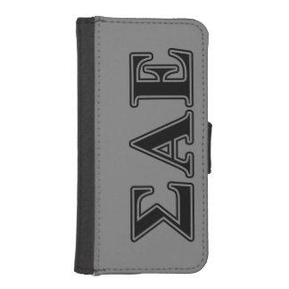 Sigma Alpha Epsilon Black Letters iPhone SE/5/5s Wallet Case