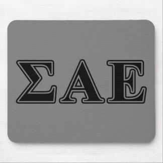 Sigma Alpha Epsilon Black Letters Mouse Mat