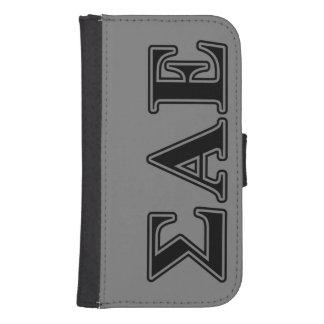 Sigma Alpha Epsilon Black Letters Samsung S4 Wallet Case