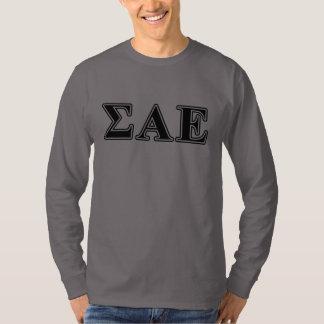 Sigma Alpha Epsilon Black Letters T-Shirt