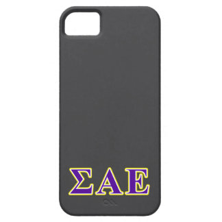Sigma Alpha Epsilon Purple and Yellow Letters Barely There iPhone 5 Case