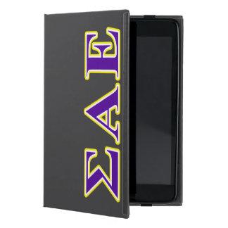 Sigma Alpha Epsilon Purple and Yellow Letters Cover For iPad Mini