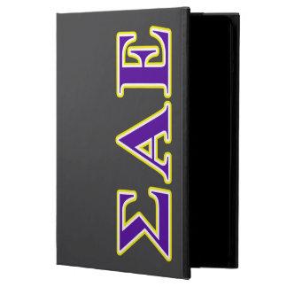Sigma Alpha Epsilon Purple and Yellow Letters iPad Air Case