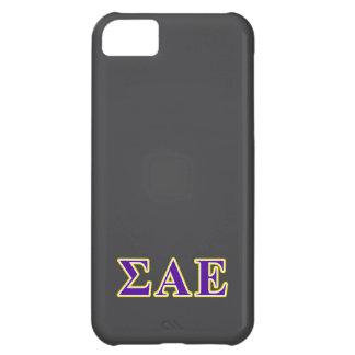 Sigma Alpha Epsilon Purple and Yellow Letters iPhone 5C Case