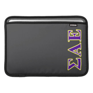 Sigma Alpha Epsilon Purple and Yellow Letters Sleeve For MacBook Air