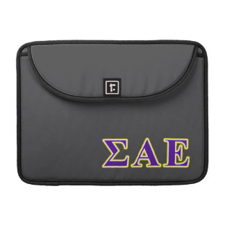 Sigma Alpha Epsilon Purple and Yellow Letters Sleeve For MacBook Pro