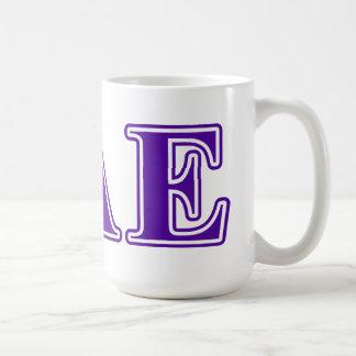 Sigma Alpha Epsilon Purple Letters Coffee Mug