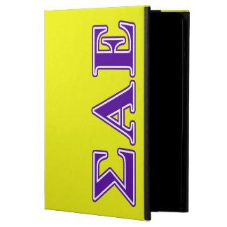 Sigma Alpha Epsilon Purple Letters iPad Air Cover