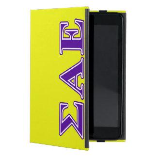 Sigma Alpha Epsilon Purple Letters iPad Mini Cover