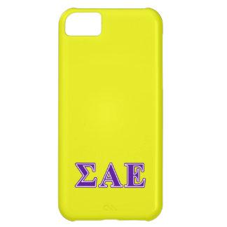 Sigma Alpha Epsilon Purple Letters iPhone 5C Case