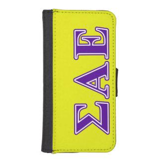 Sigma Alpha Epsilon Purple Letters iPhone SE/5/5s Wallet Case