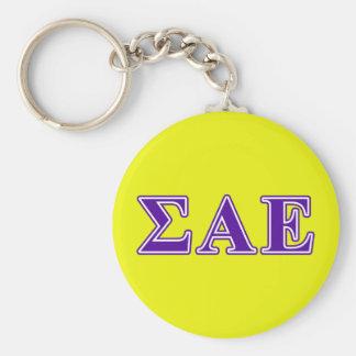 Sigma Alpha Epsilon Purple Letters Key Ring