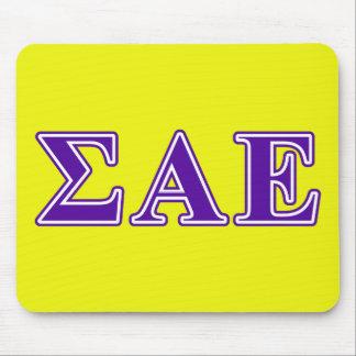 Sigma Alpha Epsilon Purple Letters Mouse Mat