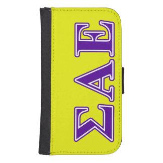 Sigma Alpha Epsilon Purple Letters Samsung S4 Wallet Case