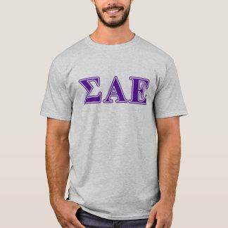Sigma Alpha Epsilon Purple Letters T-Shirt