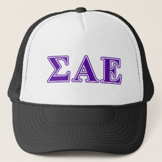 Sigma Alpha Epsilon Purple Letters Trucker Hat