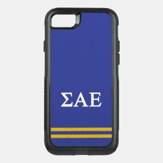 Sigma Alpha Epsilon | Sport Stripe OtterBox Commuter iPhone 7 Case