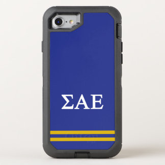 Sigma Alpha Epsilon | Sport Stripe OtterBox Defender iPhone 8/7 Case