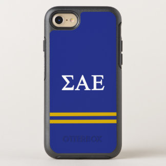 Sigma Alpha Epsilon | Sport Stripe OtterBox Symmetry iPhone 8/7 Case