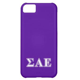 Sigma Alpha Epsilon White and Purple Letters iPhone 5C Case