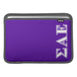 Sigma Alpha Epsilon White and Purple Letters Sleeve For MacBook Air