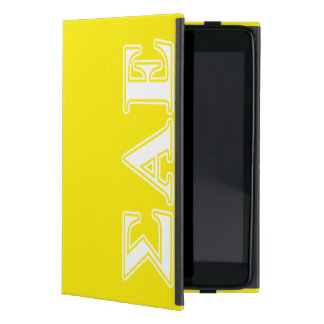 Sigma Alpha Epsilon White and Yellow Letters Cover For iPad Mini