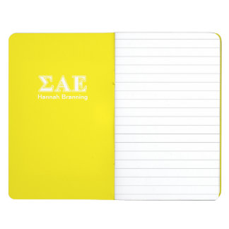 Sigma Alpha Epsilon White and Yellow Letters Journal