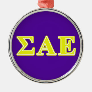 Sigma Alpha Epsilon Yellow Letters Christmas Ornament