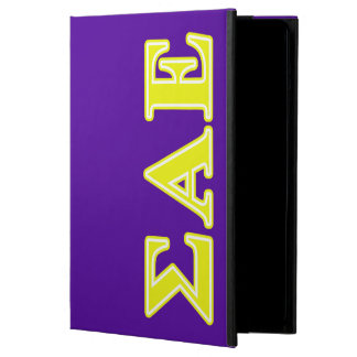 Sigma Alpha Epsilon Yellow Letters Cover For iPad Air