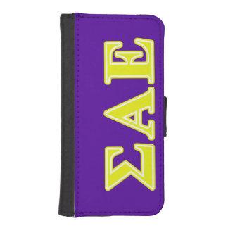 Sigma Alpha Epsilon Yellow Letters iPhone SE/5/5s Wallet Case