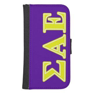Sigma Alpha Epsilon Yellow Letters Samsung S4 Wallet Case