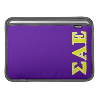 Sigma Alpha Epsilon Yellow Letters Sleeve For MacBook Air