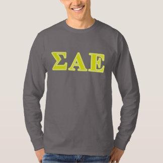 Sigma Alpha Epsilon Yellow Letters T-Shirt