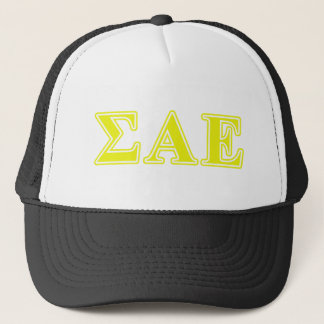 Sigma Alpha Epsilon Yellow Letters Trucker Hat
