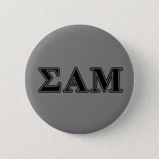 Sigma Alpha Mu Black Letters 6 Cm Round Badge