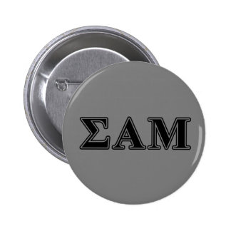 Sigma Alpha Mu Black Letters 6 Cm Round Badge