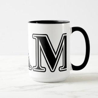 Sigma Alpha Mu Black Letters Mug