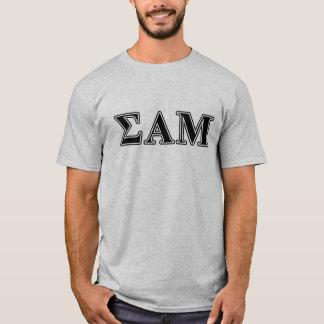 Sigma Alpha Mu Black Letters T-Shirt