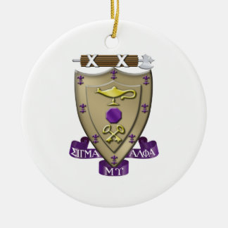 Sigma Alpha Mu Crest Christmas Ornament